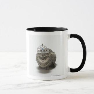 Cat wearing a tiara mug