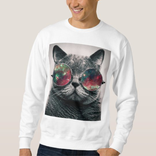 cat wearing sunglasses swatshirt sweatshirt