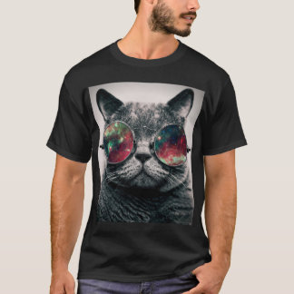 cat wearing sunglasses T-Shirt