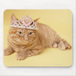 Cat wearing tiara mouse pad