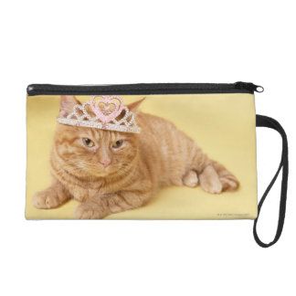 Cat wearing tiara wristlet