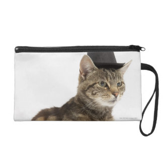 Cat wearing top hat wristlet
