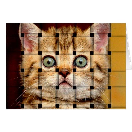 Cat Weave Card