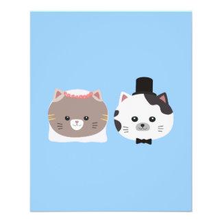 Cat Wedding Couple Zn557 11.5 Cm X 14 Cm Flyer