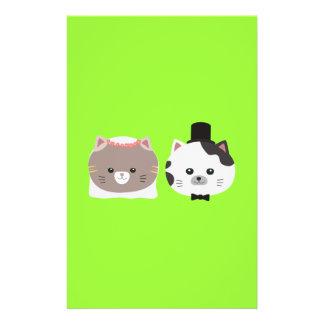 Cat Wedding Couple Zn557 14 Cm X 21.5 Cm Flyer