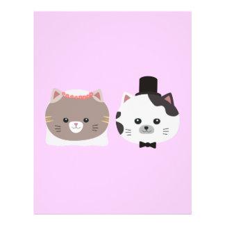 Cat Wedding Couple Zn557 21.5 Cm X 28 Cm Flyer