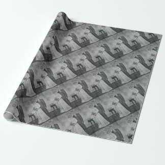 Cat wedding wrapping paper
