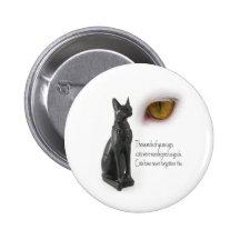 Cat Were Gods Pinback Buttons