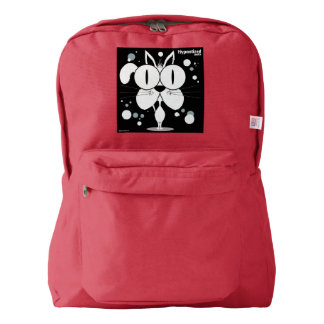 Cat(White) Backpack, Red Backpack