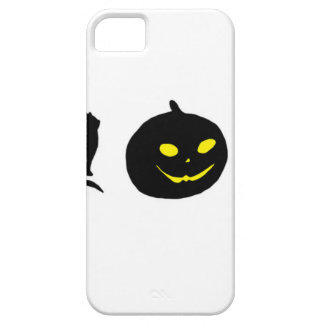 Cat Witch and Pumpkin Black Shadow Barely There iPhone 5 Case