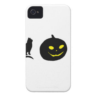 Cat Witch and Pumpkin Black Shadow Case-Mate iPhone 4 Case