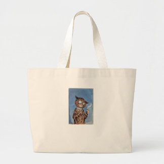 Cat With A Cigar Jumbo Tote Bag