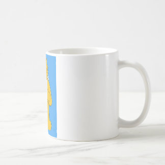 Cat with arm in a sling get well soon. basic white mug