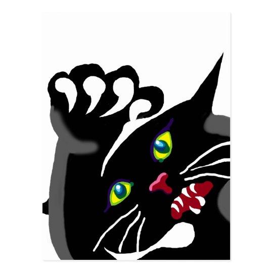 cat with attitude postcard