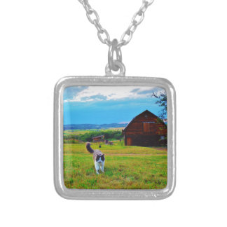 Cat with Barns Pendant