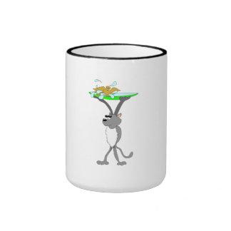 Cat With Bird Bath Coffee Mug