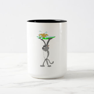 Cat With Bird Bath Mugs