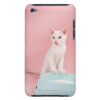 Cat with bowl of milk barely there iPod case