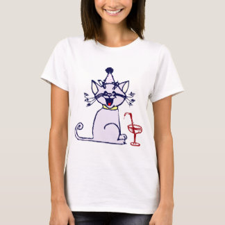 Cat with Cocktail T-Shirt