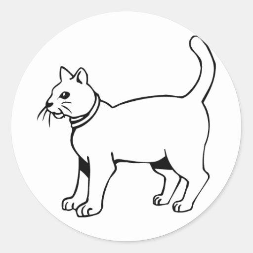 Cat with collar sticker