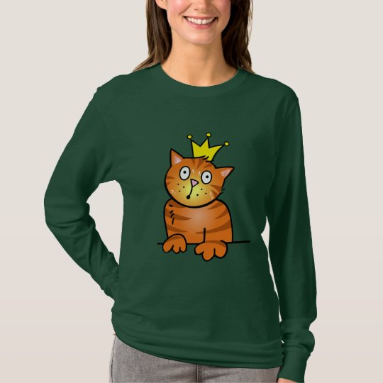 Cat with Crown - T-shirt Shirt