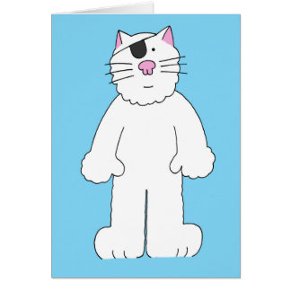 Cat with eye patch on, get well soon, eye surgery. card