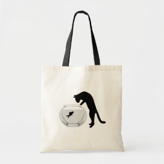 Cat with Fish Bowl Bag