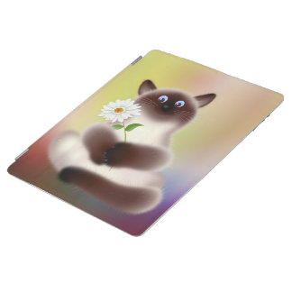 Cat with Flower iPad Smart Cover