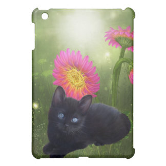 Cat with Flowers iPad Mini Cases
