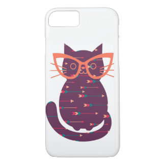 Cat with Glasses Phone Case