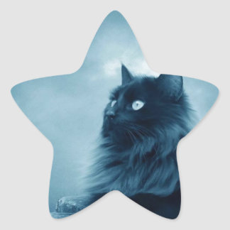 Cat with Glowing Eyes Sticker