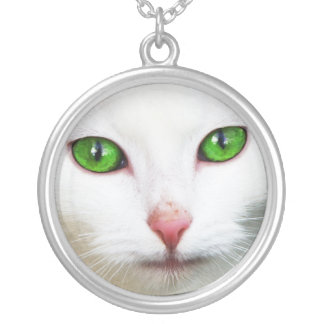 Cat with Green Eyes Necklace