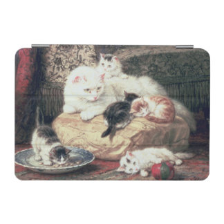 Cat with her Kittens on a Cushion iPad Mini Cover