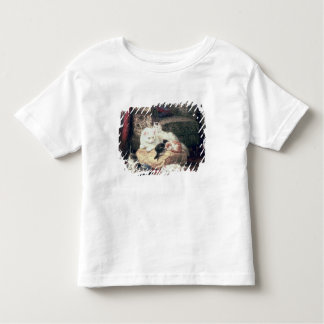 Cat with her Kittens on a Cushion Toddler T-Shirt