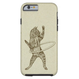 Cat with Hula Hoop Tough iPhone 6 Case