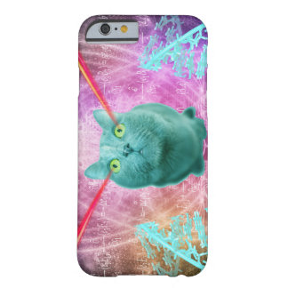 Cat with laser eyes barely there iPhone 6 case