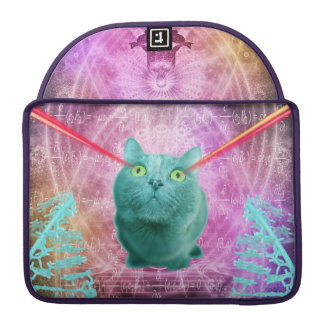 Cat with laser eyes sleeve for MacBooks