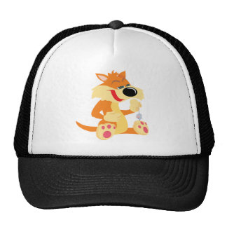 Cat with Mouse Trucker Hat