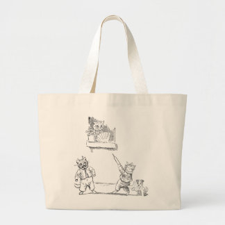 Cat With Squirt Vintage Louis Wain Tote Bags