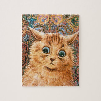 Cat with Wallpaper Background by Louis Wain Puzzles