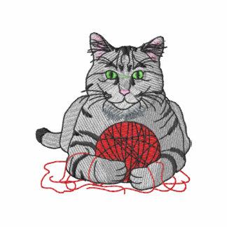 Cat with yarn