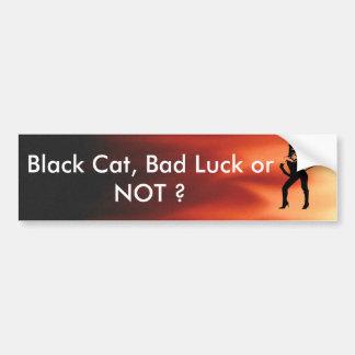 Cat woman silhouette car bumper sticker