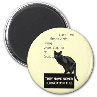 Cat Worship 6 Cm Round Magnet