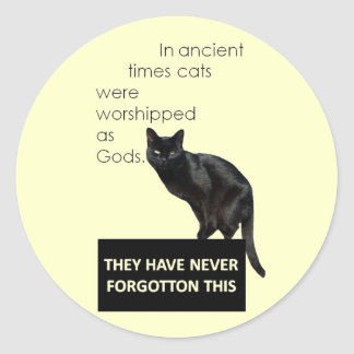 Cat Worship Classic Round Sticker