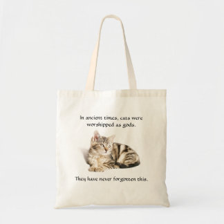Cat worship tote bag