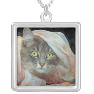 Cat wrapped in cloth pendant