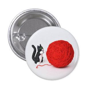 Cat Yarn Button
