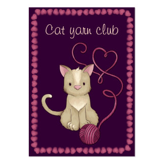 cat yarn club pack of chubby business cards