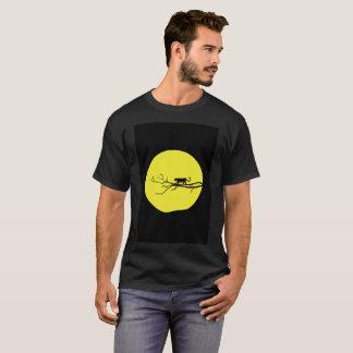 Cat Yellow Moon Branch Weak Tree Modern T-Shirt