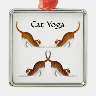 Cat Yoga Poses Ornament